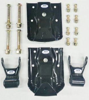 "Chevy/GMC Leaf Spring Hanger/Shackle Kit, Rear of Rear Suspension (BOTH SIDES) Fits 2-1/2"" Wide Leaf Spring - #M22421 - **FREE SHIPPING**"