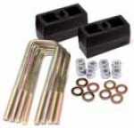 Leaf Spring Block and U Bolt Kit - Rear Lift 2.0""