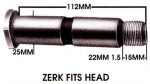 Isuzu Leaf Spring Pin - Greasable Threaded