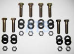 "Leaf Spring Hanger Mounting Bolt Kit  3/8""x1-1/2"""