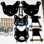"Ford BRONCO (Full Size)Spring Hanger/Shackle Assembly Kit, Complete - Front and Rear Position Of Rear Suspension (BOTH SIDES), fits  3""  Wide Leaf Spring **FREE SHIPPING**"