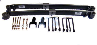 1980-1996 Ford F250 4wd  1997 Ford F250 4wd, Over 8500 Lbs GVW  1980-1997 Ford F350 4wd, Models With Indep. Front Axle Susp. Front Leaf Spring Kit Complete