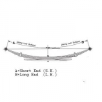 1972-1993 Dodge D200/250/300/350, W200/250/300/350  1975-1983 Dodge D400/450 XL Rear Leaf Spring