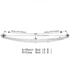 1992-1993 Dodge W150/200/250/300/350, RamCharger 4wd Heavy Duty Front Leaf Spring