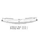 1962-1973 Jeep Postal Vehicles DJ5, FJ6, FJ6A Rear Leaf Spring  OEM# 997844, 997845