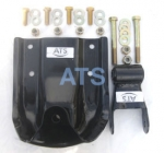 "Dodge Ram PickUp Leaf Spring Hanger/Shackle Kit, Rear of Rear Suspension, fits 2-1/2"" Wide Leaf Springs"