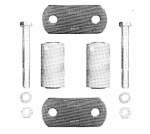 "Freightliner   Leaf Spring Shackle Kit, Rear of Front, fits 3"" Wide Leaf Spring"