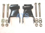 "Dodge Durango 1"" Lift Shackle Kit, Rear of Rear Suspension, Fits 2-1/2"" Wide Leaf Spring**FREE SHIPPING**"